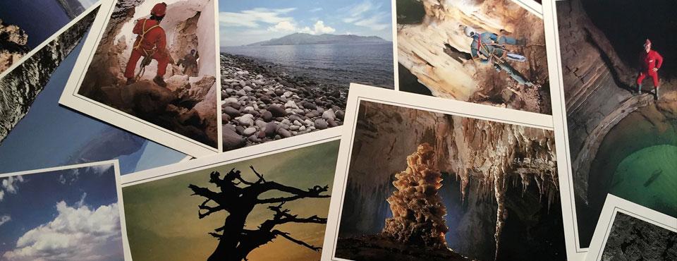 Cartoline di grotte, paesaggi e aspetti naturalistici dell'Italia meridionale