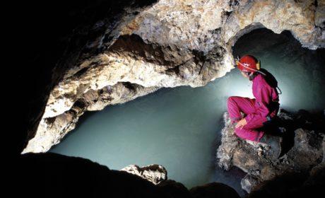 Il sifone terminale della Grotta delle Ninfe